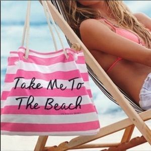 🆕 VS Take Me To The Beach Striped Beach Bag